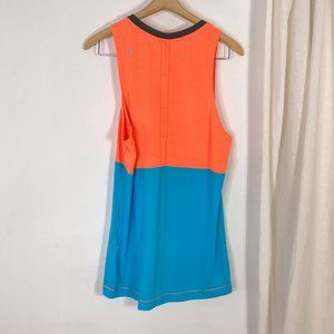lululemon athletica Shirts - Lululemon Precise Singlet Yoga Tank Orange & Blue